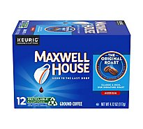 Maxwell House Coffee K-Cup Pods Ground Medium Roast - 12 Count