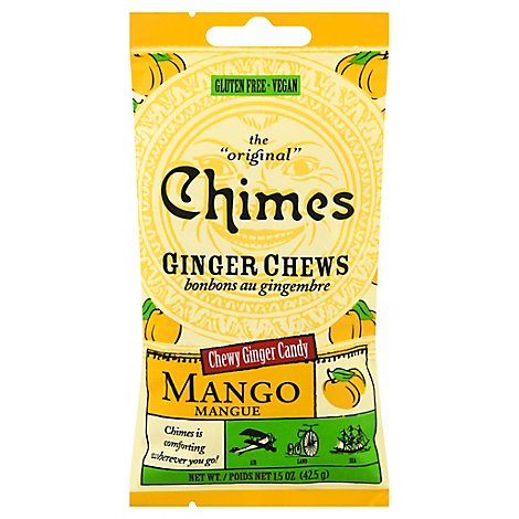 Chimes Candy Chewy Ginger Chews Mango - 1.5 Oz