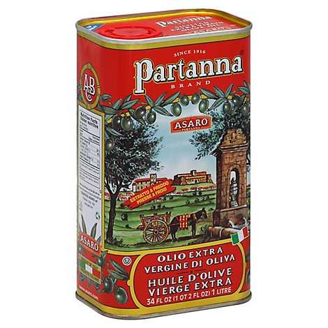Partanna Brand Asaro Olive Oil Extra Virgin - 34 Fl. Oz.