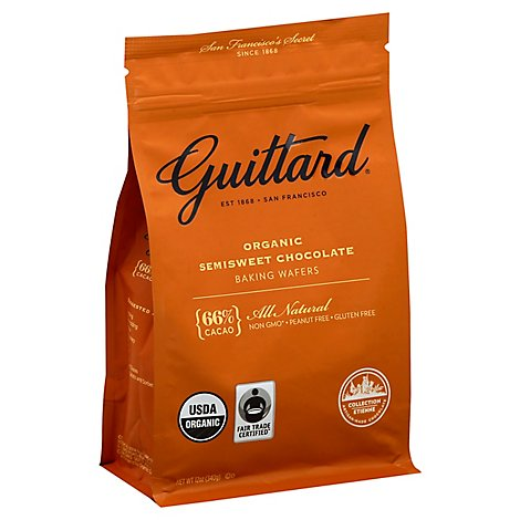 Guittard Baking Wafers Organic Semisweet Chocolate - 12 Oz