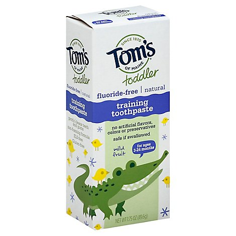 Toms Of Maine Toothpaste Toddler Training Mild Fruit Fluoride-Free - 1.75 Oz