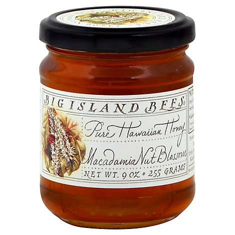 Big Island Bees Honey Hawaiian Pure Macadamia Nut Blossom - 9 Oz
