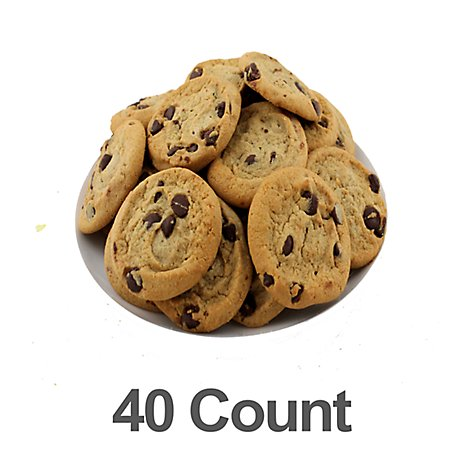 Fresh Baked Chocolate Chip Cookies - 40 Count
