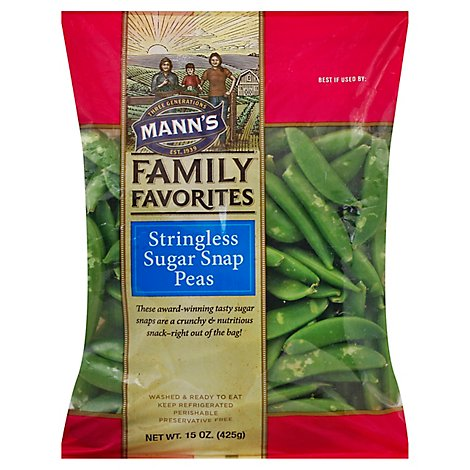 Manns Family Favorites Stringless Sugar Snap Peas - 15 Oz