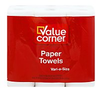 Value Corner Paper Towels Sheets Vari A Size 2-Ply - 6 Roll