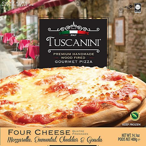 Tuscanini Pizza Four Cheese Frozen - 14.1 Oz