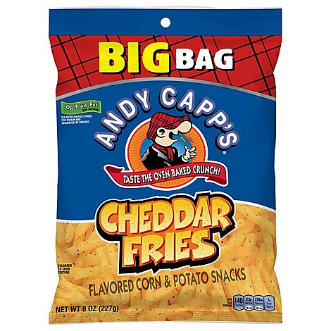 ANDY CAPPS Snacks Corn & Potato Cheddar Fries - 8 Oz
