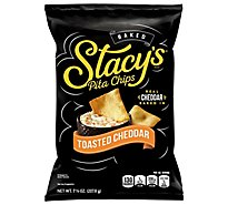 Stacys Pita Chips Toasted Cheddar - 7.33 Oz