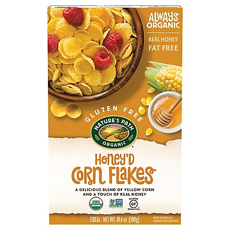 Natures Path Organic Cereal Gluten Free Corn Flakes Honeyd - 10.6 Oz