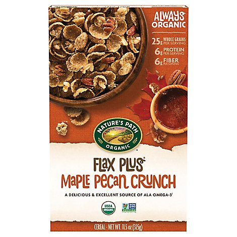 Natures Path Organic Flax Plus Cereal Maple Pecan Crunch - 11.5 Oz
