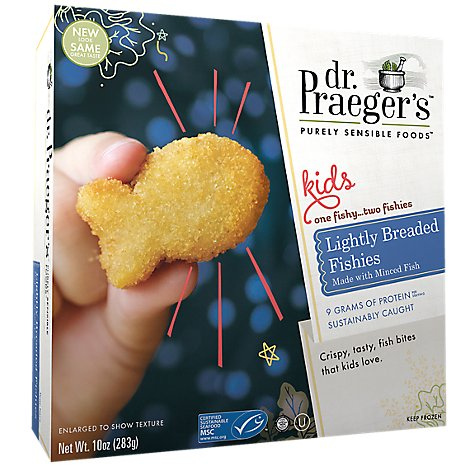 Dr Praegers Sensible Foods Kids Fishies Lightly Breaded - 12 Oz
