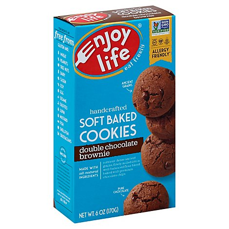 enjoy life Cookies Soft Baked Double Chocolate Brownie - 6 Oz