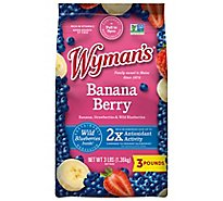 Wymans Berries Wild Strawberries & Banana Slices - 3 Lb