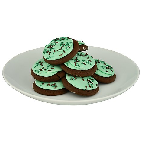 Bakery Cookies Frosted Mint Chocolate - Each