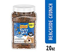 Friskies Party Mix Crunch Cat Treats Beachside Shrimp Crab & Tuna Flavors Jar - 20 Oz
