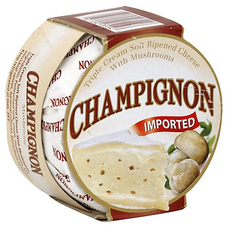 Champignon Triple Cream Mushroom Wheel - 0.5 Lb