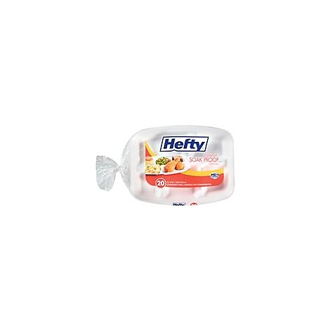 Hefty Everyday Trays Compartment Soak Proof 9 x 12 Inch Bag - 20 Count