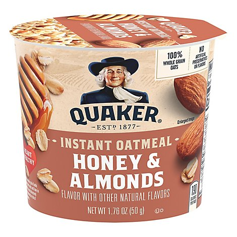 Quaker Oatmeal Instant Honey & Almonds - 1.76 Oz
