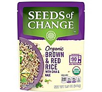 Seeds of Change Rice Brown & Red with Chia & Kale Pouch - 8.5 Oz