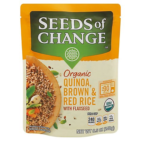 Seeds of Change Organic Quinoa Brown & Red Rice With Flaxseed Pouch - 8.5 Oz