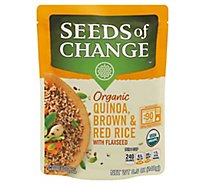 Seeds of Change Quinoa Brown & Red Rice with Flaxseed Pouch - 8.5 Oz