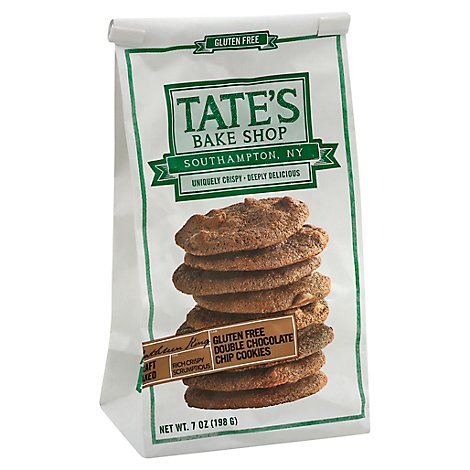Tates Bake Shop Cookies Gluten Free Double Chocolate Chip - 7 Oz