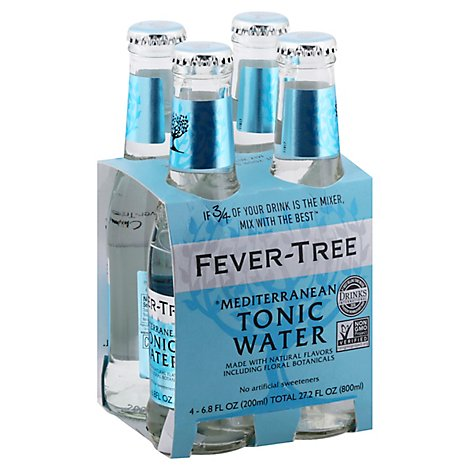 Fever Tree Mediterranean Tonic Water - 4-6.8 Fl. Oz.