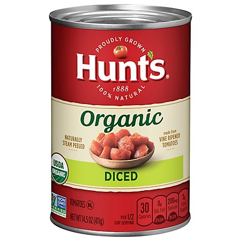 Hunts Organic Tomatoes Diced - 14.5 Oz