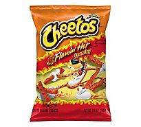 Cheetos Snacks Cheese Flavored Crunchy Flamin Hot - 8.5 Oz