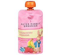 Peter Rabbit Organics Strawberry Banana Fruit Blend 4oz - Each