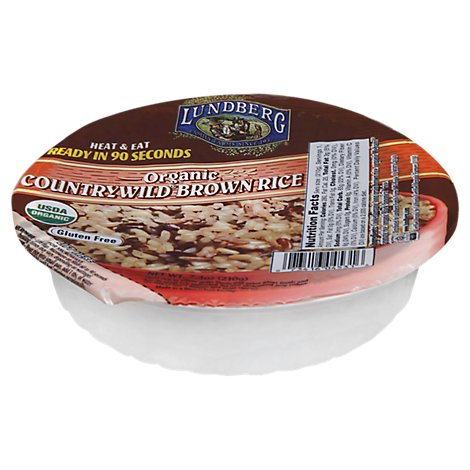 Lundberg Organic Rice Brown Heat & Eat Countrywild Bowl - 7.4 Oz