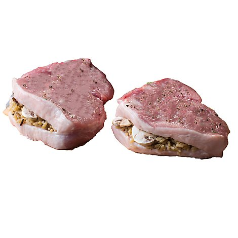 Meat Counter Pork Loin Chops Stuffed With Old Fashioned Stuffing Boneless - 1.50 LB