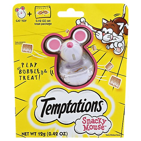 Temptations Cat Treat Snacky Mouse Cat Toy + Cat Treat Tasty Chicken Flavor - 0.42 Oz