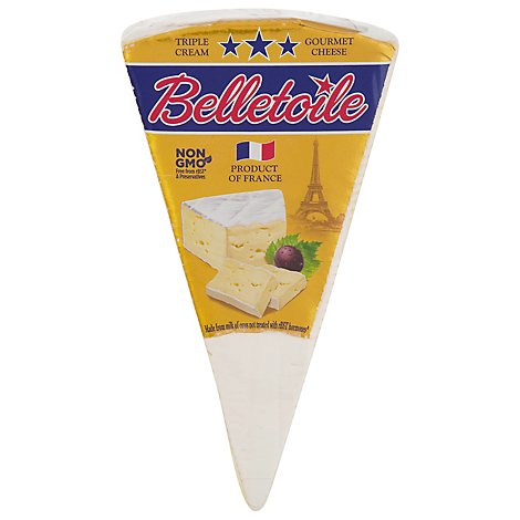Henri Hutin Brie Belletoile 70% Cheese Hand Wrapped Pre Weighed 0.50 LB