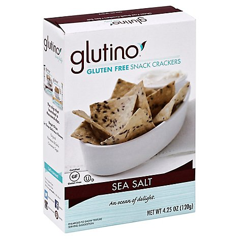 Glutino Crackers Snack Gluten Free Sea Salt - 4.25 Oz