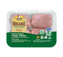 Foster Farms Organic Chicken Thighs Fillets Boneless Skinless - 1.00 LB