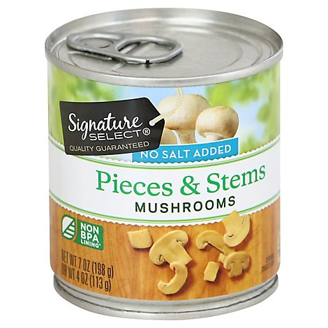 Signature SELECT Mushrooms Pieces & Stems No Salt Added - 7 Oz