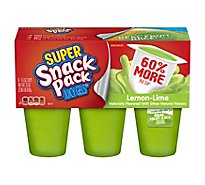 Snack Pack Juicy Gels Super Lemon-Lime - 6-5.5 Oz
