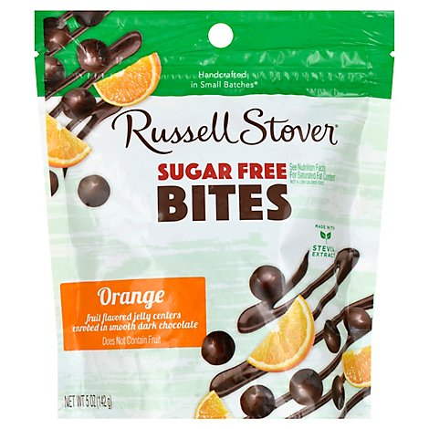 Russell Stover Bites Sugar Free Orange Dark Chocolate - 5 Oz