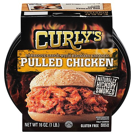 Curlys Pulled Bbq Chicken - 16 Oz