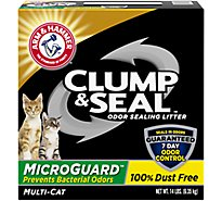 ARM & HAMMER Cat Litter Clump & Seal Odor Sealing MicroGuard Fresh Scent Box - 14 Lb