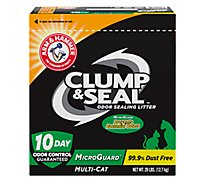 ARM & HAMMER Cat Litter Clump & Seal Odor Sealing MicroGuard Fresh Scent Box - 28 Lb