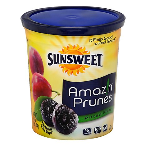 Sunsweet Prunes Pitted Canister - 16 Oz