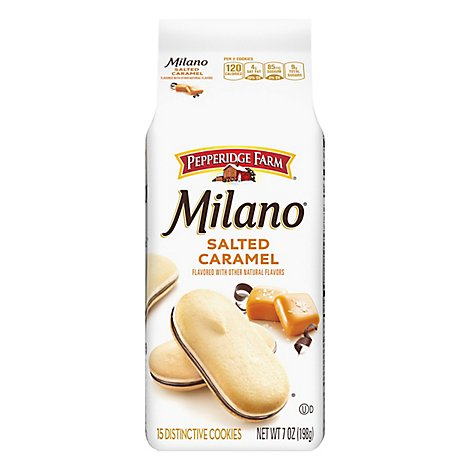 Pepperidge Farm Milano Cookies Salted Caramel Flavored Chocolate - 7 Oz