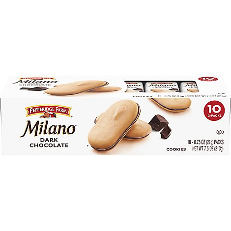 Pepperidge Farm Milano Cookies Dark Chocolate - 10 Count