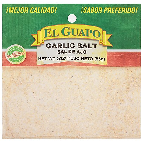 El Guapo Garlic Salt - 2 Oz