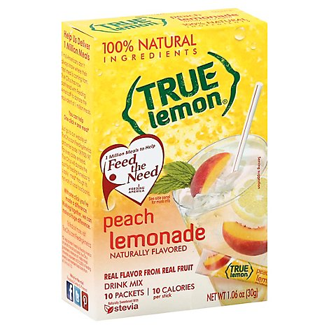 True Lemon Peach Lemonade - 10 Count