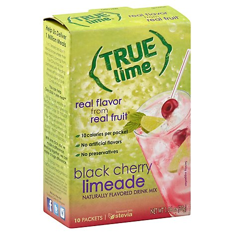 True Lime Drink Mix Black Cherry 10 Count - 1.06 Oz