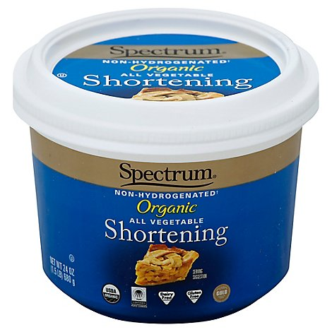 Spectrum Shortening Organic All Vegetable - 24 Oz
