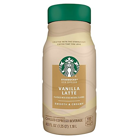 Starbucks Espresso Beverage Chilled Classics Vanilla Latte - 40 Fl. Oz.